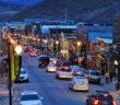 Park City Main Street Arial Winter