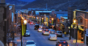 Park City Main Street Arial Winter