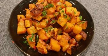 Make Me: Mindful Cuisine Butternut Squash with Prosciutto and Calabrian Chilies