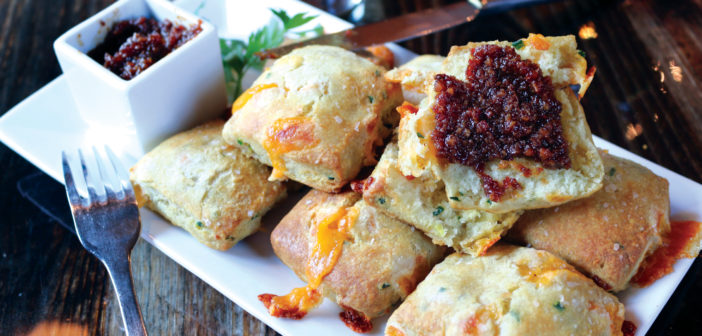 Ask For It: Fletcher's Cheddar Chive Biscuits and Bacon Jam
