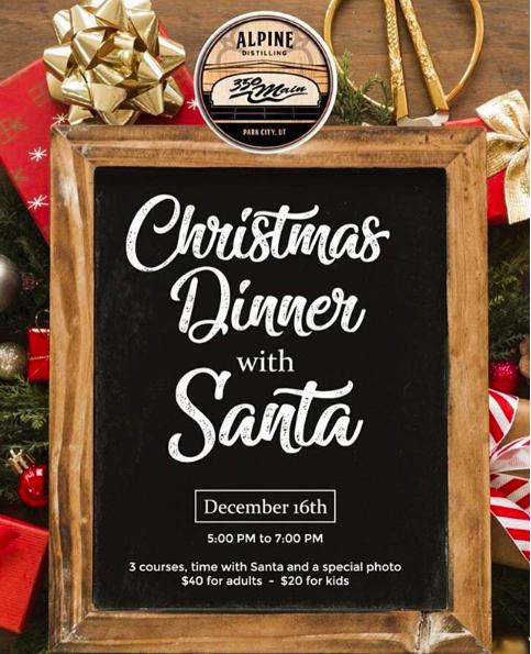 350 Main Dinner With Santa
