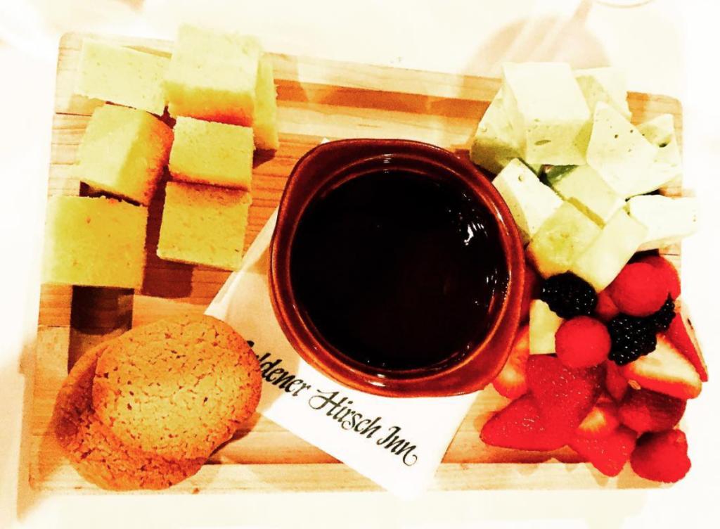 Goldener Hirsch Inn Chocolate Fondue