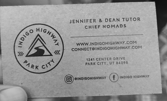 indigo highway business card