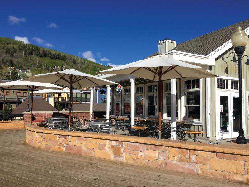 bridge cafe patio